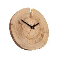Часы настенные из спила сосны