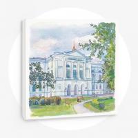 Томский гос.университет, главный корпус, 50х50 см