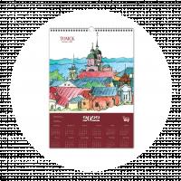 """Постер-календарь 2022  """"Панорама Томска"""""""