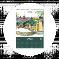 """Постер-календарь 2022 """"Вид на Октябрьский взвоз"""""""