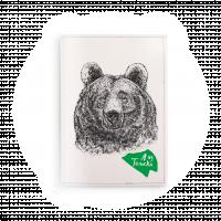 """Обложка на паспорт  """"Я из Томска. Медведь"""""""