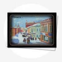 Открытка из серии Лаковая миниатюра ул. Почтамская
