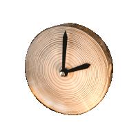 Часы настольные из спила сосны