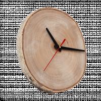 Часы настенные из спила березы