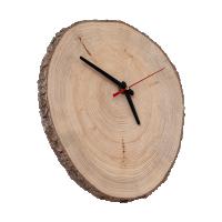 Часы из спила кедра