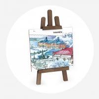 Сувенирный мольберт «Панорама с Воскресенской горы»