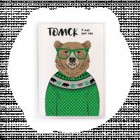 """Обложка на паспорт  """"Медведь в свитере"""""""