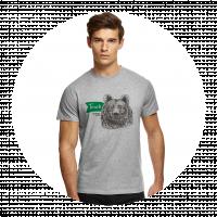 """Футболка мужская """"Это Сибирь детка. Медведь"""""""