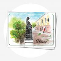"""Открытка """"Памятник беременной"""""""